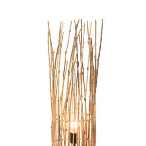 Lampe branche de bambou