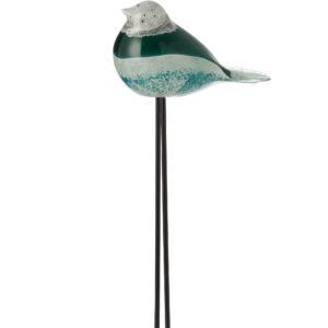 oiseau en verre sur pied métal
