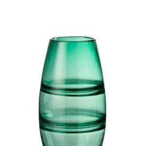 vase rayé en vert