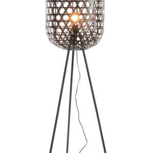lampe en bambou sur trépied